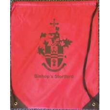 Drawstring bag - red