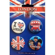 London - Set of 4 badges