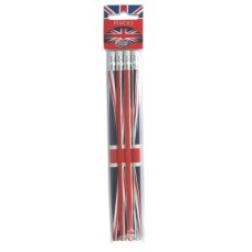 Union Jack 4 Pencil Set