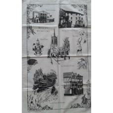 Bishop's Stortford Tea Towel - Black, Blue or Red