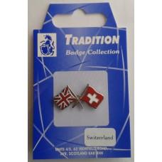 Switzerland / Union Jack Friendship Badge