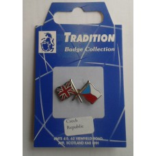 Czech Republic / Union Jack Friendship Badge