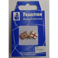 St George / Union Jack Lapel Badge