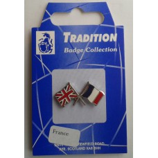 France / Union Jack Friendship Badge