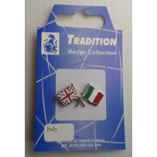 Italy / Union Jack Friendship Badge