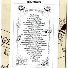 Textures Tea Towel - The Art of Marriage