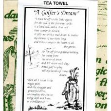 """Textures Tea Towel - """"A Golfer's Dream"""""""