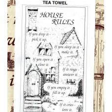 Textures Tea Towel - House Rules