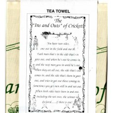 "Textures Tea Towel - The ""Ins and Outs of Cricket"""