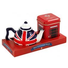 Union Jack Mini Tea Pot with Tea