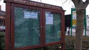 Photo of the Old River Lane Community noticeboard