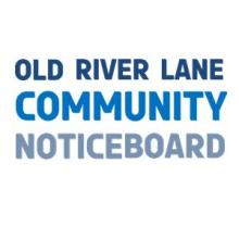 Picture of Old River Lane community board wording